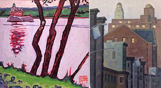 Dan Rupe: River Trees and Robert Goldstrom: Lafayette AM 3 @ Carrie Haddad Gallery