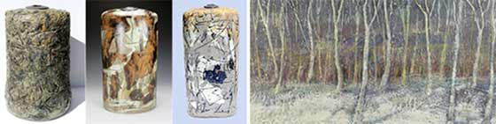 <strong>Ceramics by Regis Brodie and paintings by Leslie Yolen @ Courthouse Gallery