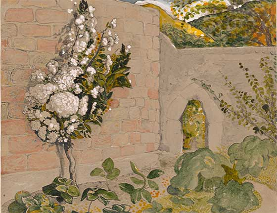 Samuel Palmer: Pear Tree in Walled Garden @ The Clark