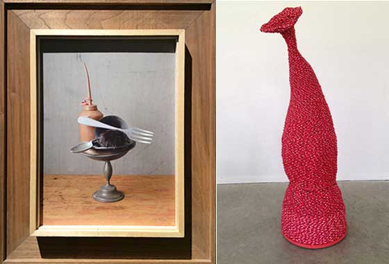 David Halliday: Fork and Fur and Donise English: Red One @ Carrie Haddad Gallery