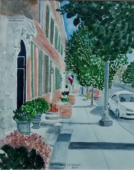 Alan Knight: Warren Street in Summer @ Spencertown Academy
