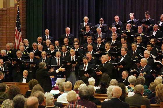 The massed chorus.