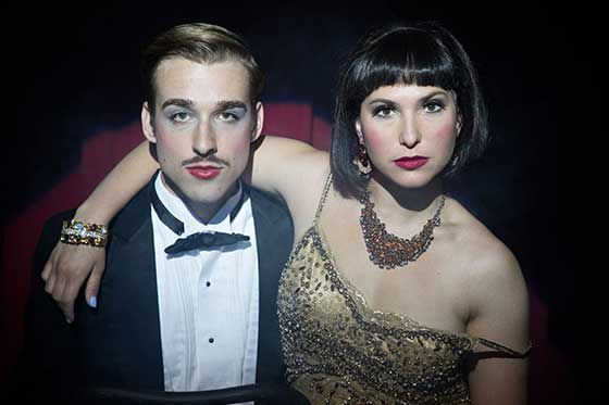 Pat Moran as the Emcee and Emily Kron as Sally Bowles.