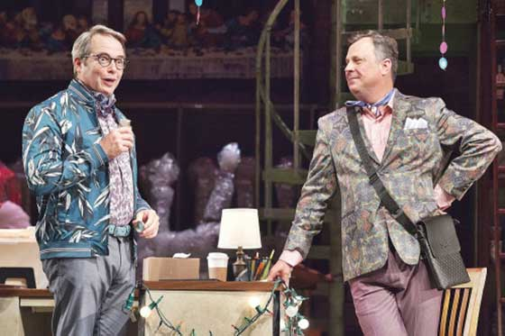 Matthew Broderick and Brooks Ashmanskas (photo by Carolyn Brown)