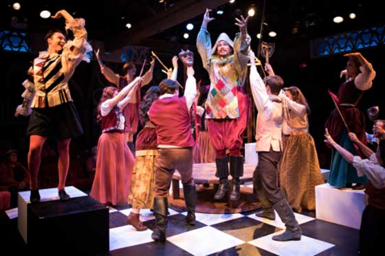 James Benjamin Rodgers, Gabe Belyeu and ensemble (photo: Sarah Kozma)