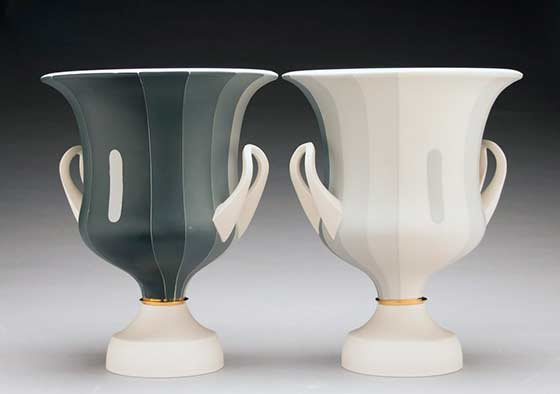 Peter Pincus, Pair of Calyx Krater Inspired Vases @ Ferrin Contemporary