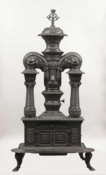 Four-Column Parlor Stove, John Morrison of the Green Island Stove Works @ The Albany Institute of History and Art