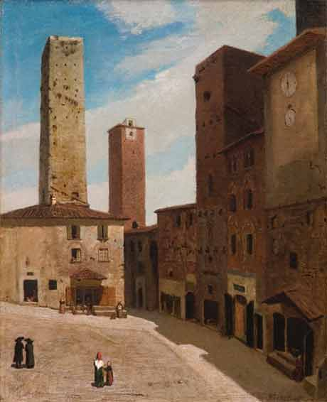 Elihu Veddder: San Gimignano @ The Hyde Collection