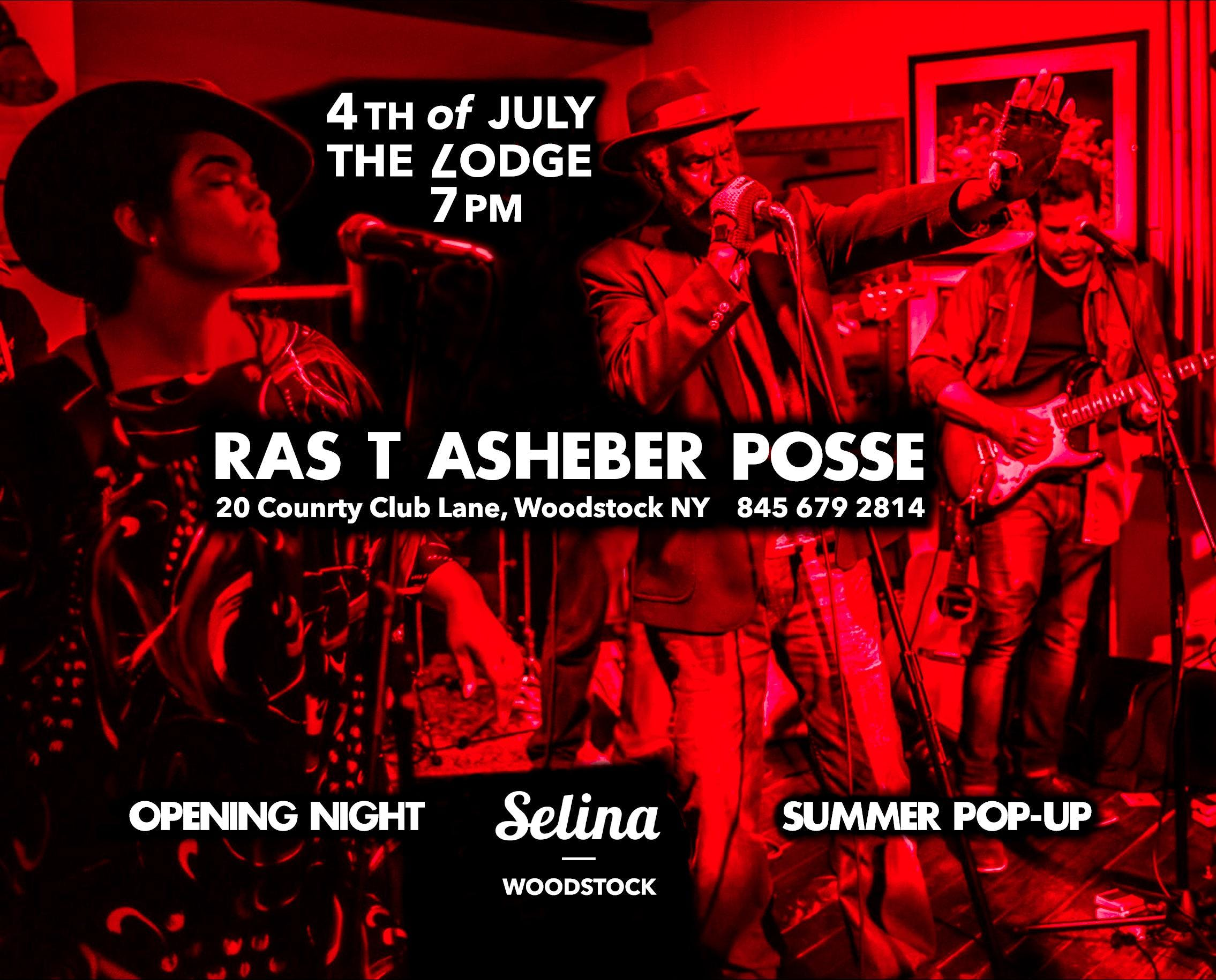 Opening Night! Selina Summer Pop-Up at The Lodge = Ras T Asheber